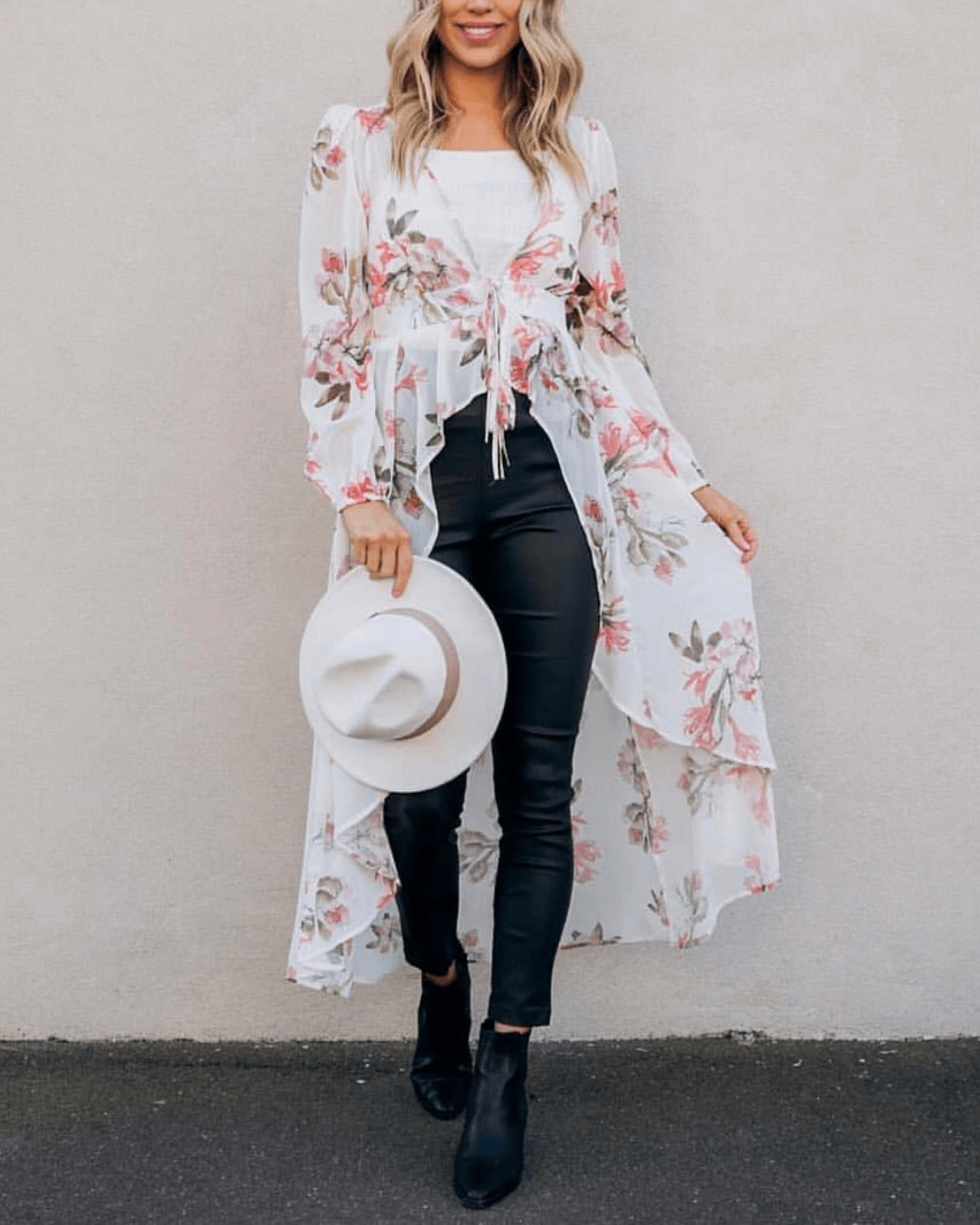 Ryder Cape Dress - White Floral