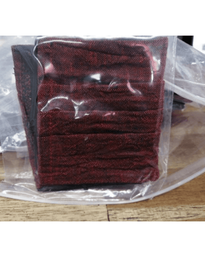 Three Pack: Linen Face Coverings  - Burgandy