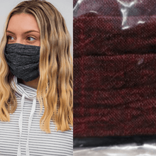 Two Pack: Linen Face Coverings  - Burgandy