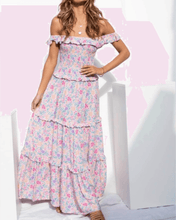 Gemstone Maxi Dress- Blush Floral