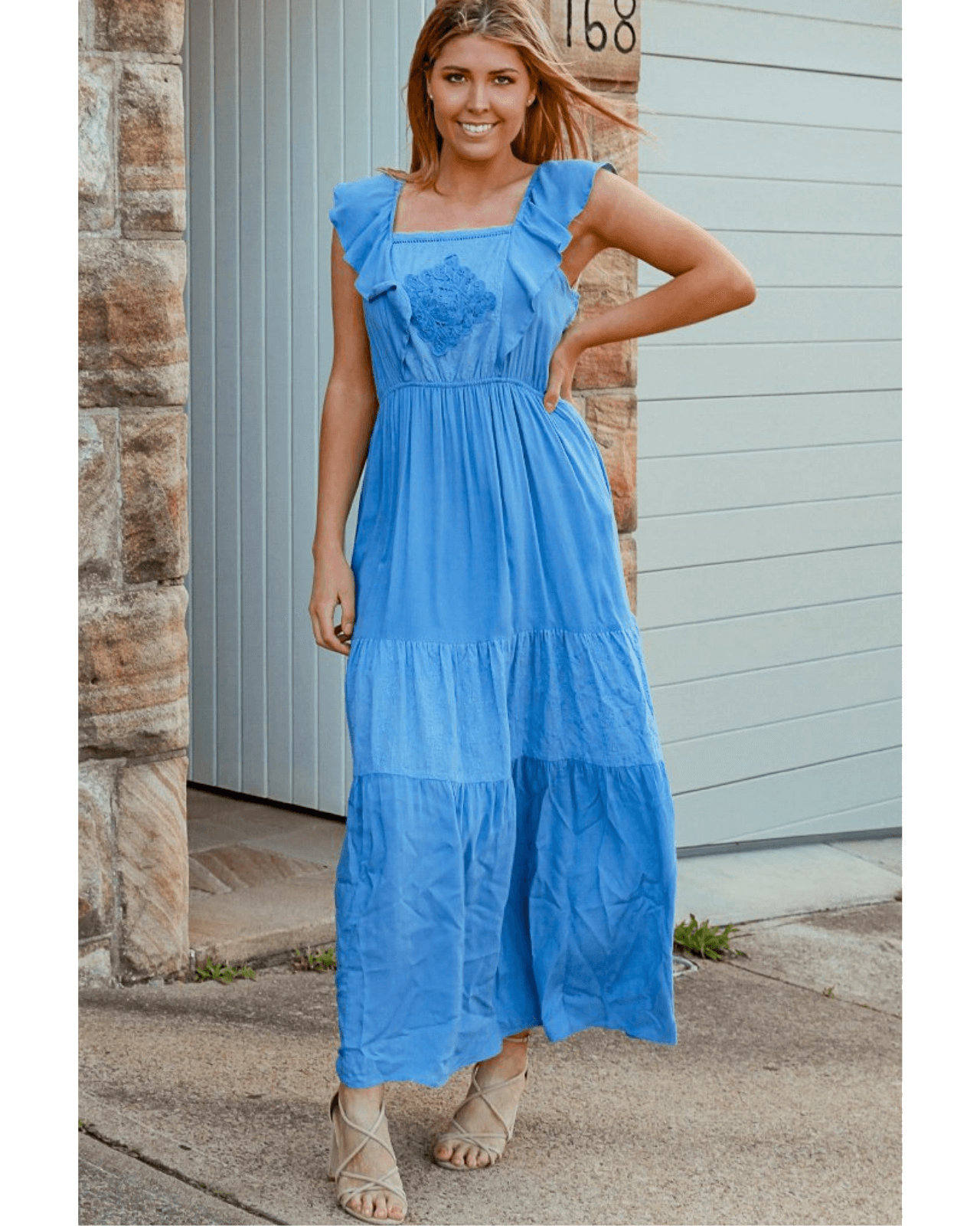 Pearl Maxi Dress - Pretty Blue