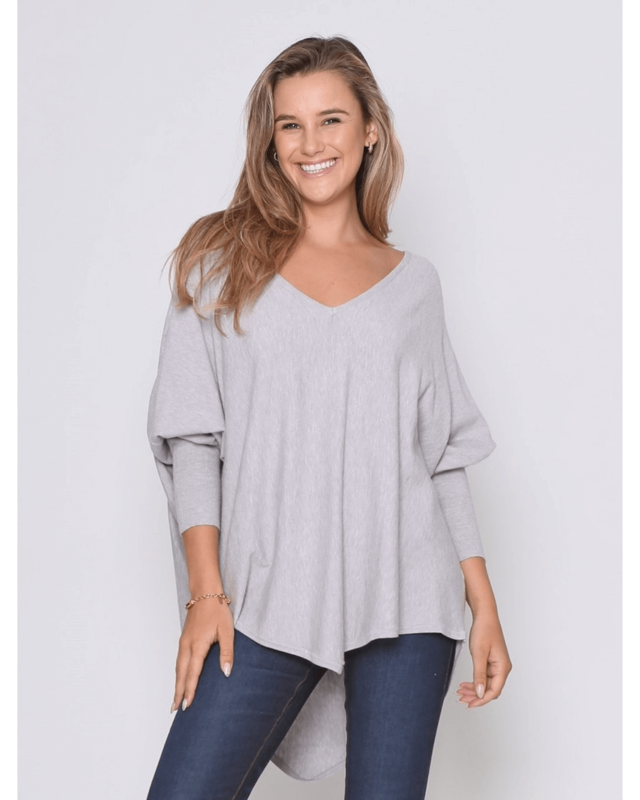 Zali Knit Top - Grey PRE-ORDER