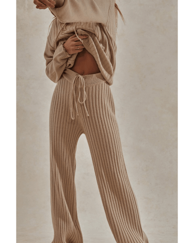 Hendrix Knit Lounge Pants - Sand