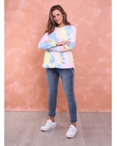 Madonna Luxe Sweater - Pastel Tie Dye