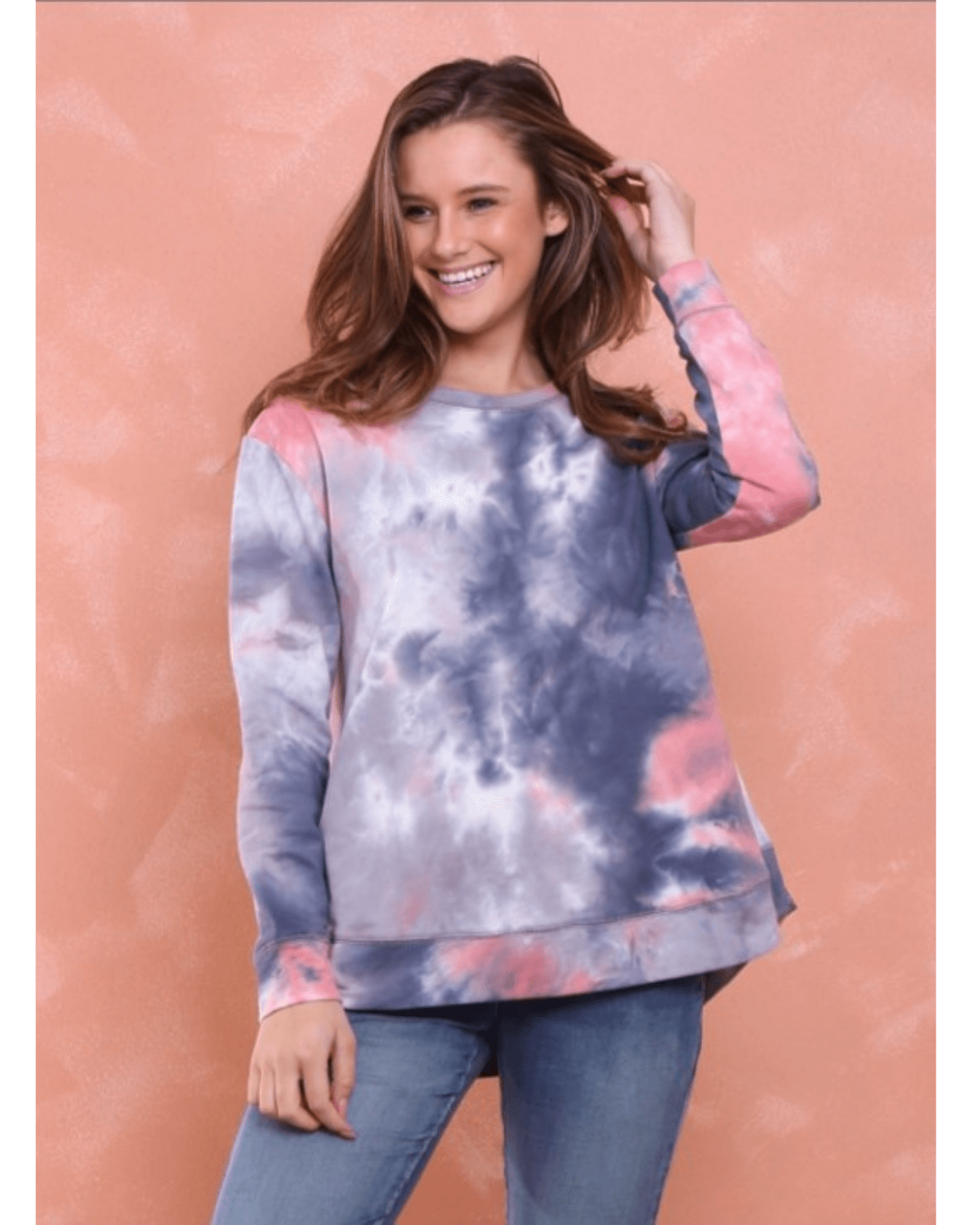 Madonna Luxe Sweater - Charcoal Tie Dye
