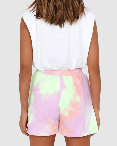 Lincoln Track Shorts - Lilac Tie Dye