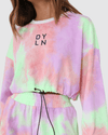 Ollie Cropped Sweat - Lilac Tie Dye