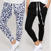 Jogger Two Pair Bundle -  Mila Ink Leopard and Jade Black