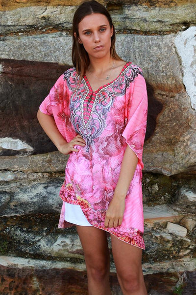 Cara Beach Throwover Pink C1399- Instore