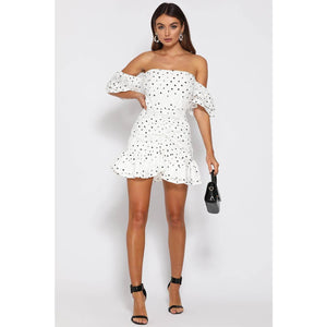 Tiana Frill Dress - White