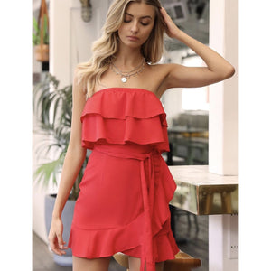 WHILE IT'S HOT DRESS RED