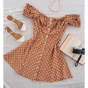 JULIA DRESS RUST SPOT