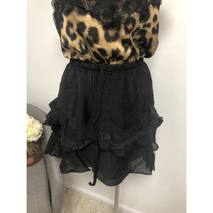 FINLAY FRILL SKIRT BLACK