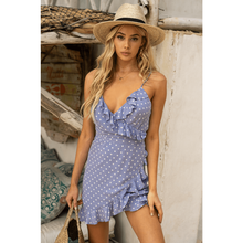 Serena Wrap Dress Icy Blue