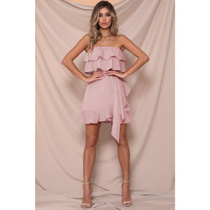 WHILE IT'S HOT DRESS BLUSH PINK