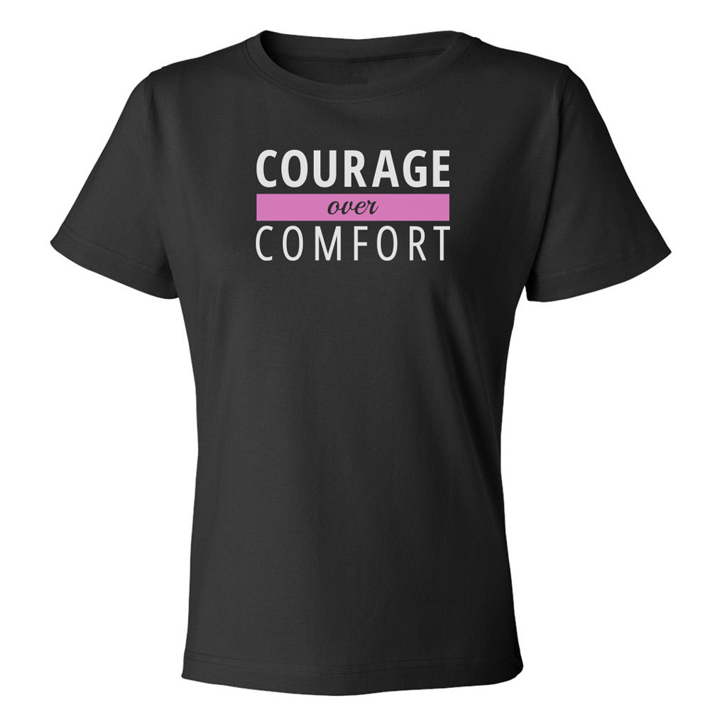 Courage Over Comfort Premium Short Sleeve TOP [white logo]