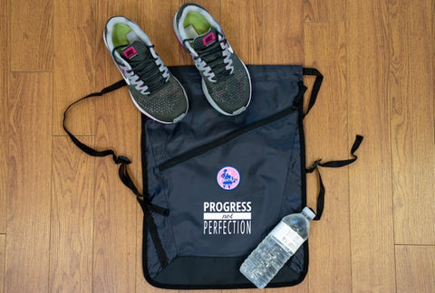 Gym Shoes AND Water BAG [white logo]