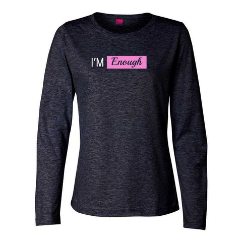 I'm Enough Long Sleeve TOP (white logo)