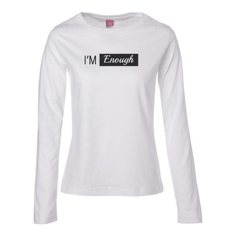 I'm Enough Long Sleeve TOP (black logo)