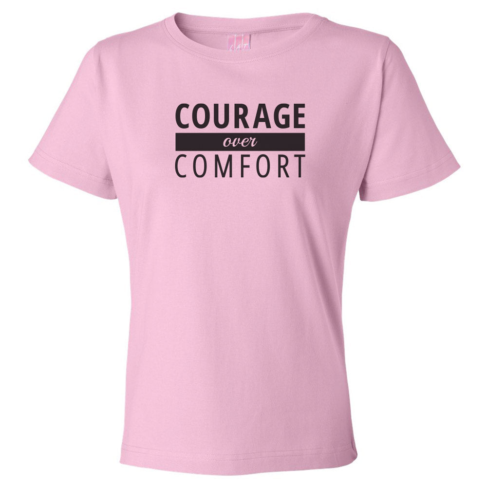 Courage Over Comfort Premium Short Sleeve TOP [black logo]