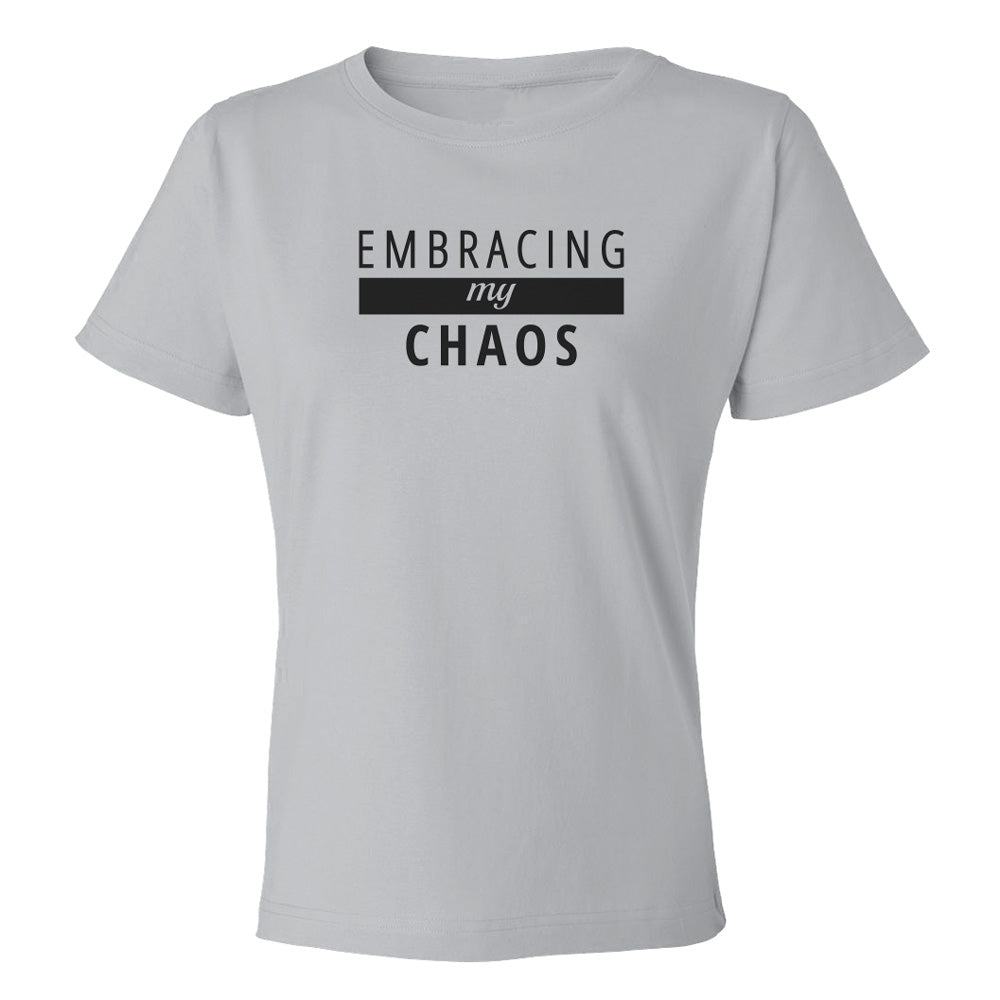 Embracing MY Chaos Premium Short Sleeve TOP [black logo]