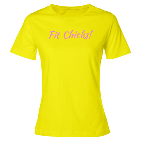 Fit Chicks! Premium Short Sleeve TOP [pink logo]
