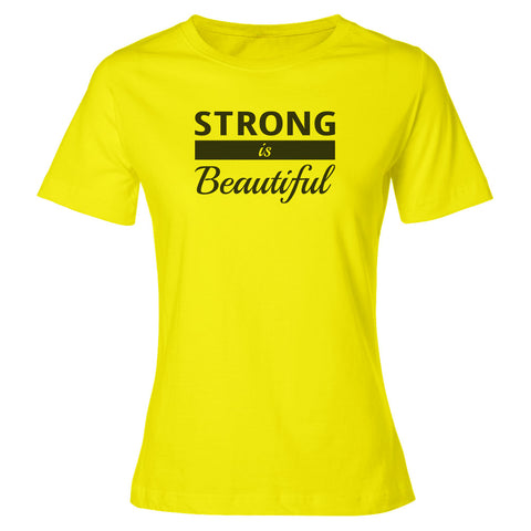 Strong IS Beautiful Premium Short Sleeve TOP [black logo-only]