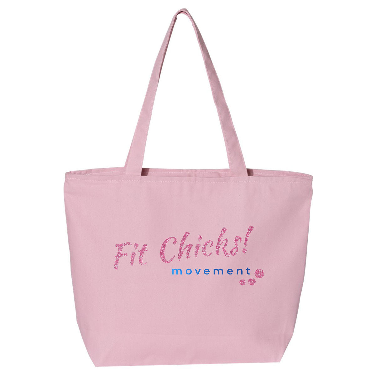 Fit Chicks! Large Tote BAG [pink type]