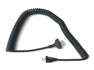 Kenwood KMC-14 KMC-27C 6-pin replacement mic cable TK-730 TK-830 TK-630 etc.