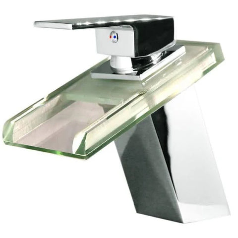 Image Of Bathroom Waterfall Led Faucet ...
