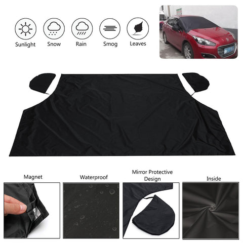 Magnetic Windshield Snow Cover Black