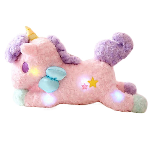 Image of Luminous Unicorn Plushie Floppy/Pink