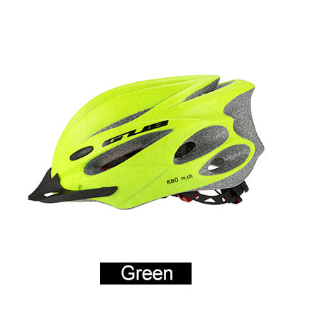 Image of Bicycle Helmet with Goggles green