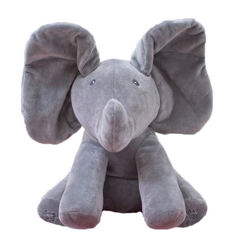 Image of Flap-A-Boo Elephant Gray