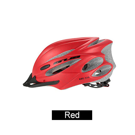 Bicycle Helmet with Goggles red