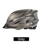 Bicycle Helmet with Goggles gray
