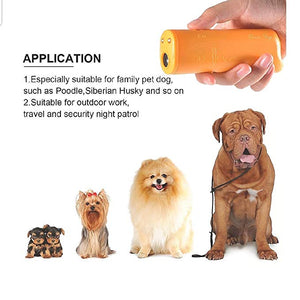 Ultrasonic Dog Bark Control yellow