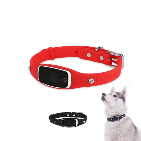 Image of Smart Gps Dog Collar – Real-time Tracking – Android & Iphone Apps Red