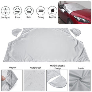 Magnetic Windshield Snow Cover Silver