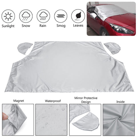 Image of Magnetic Windshield Snow Cover Silver