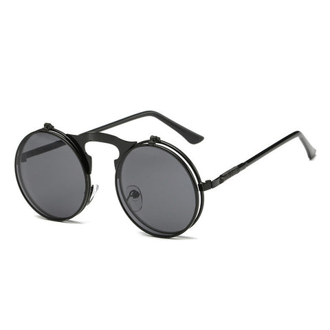 Image of Flip Up Steampunk Sunglasses Black