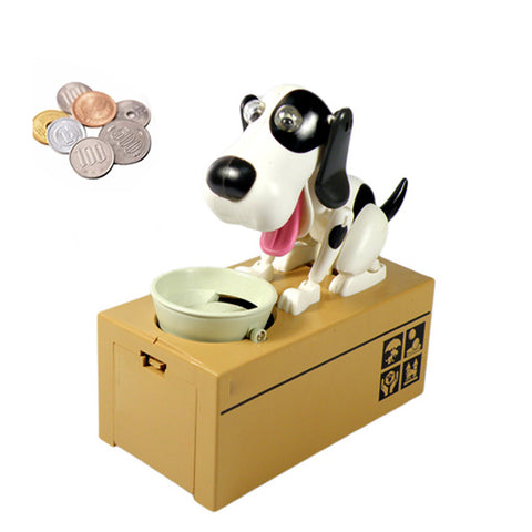 Image of Dog Coin Bank Black and white