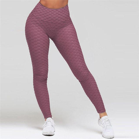 High Waist Anti Cellulite Leggings IndianRed / S