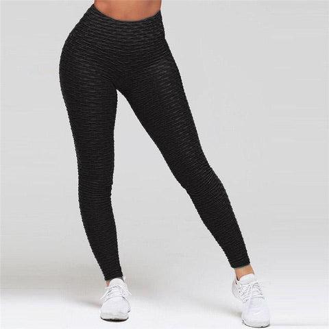 High Waist Anti Cellulite Leggings Black / S