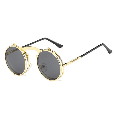 Image of Flip Up Steampunk Sunglasses DarkGray