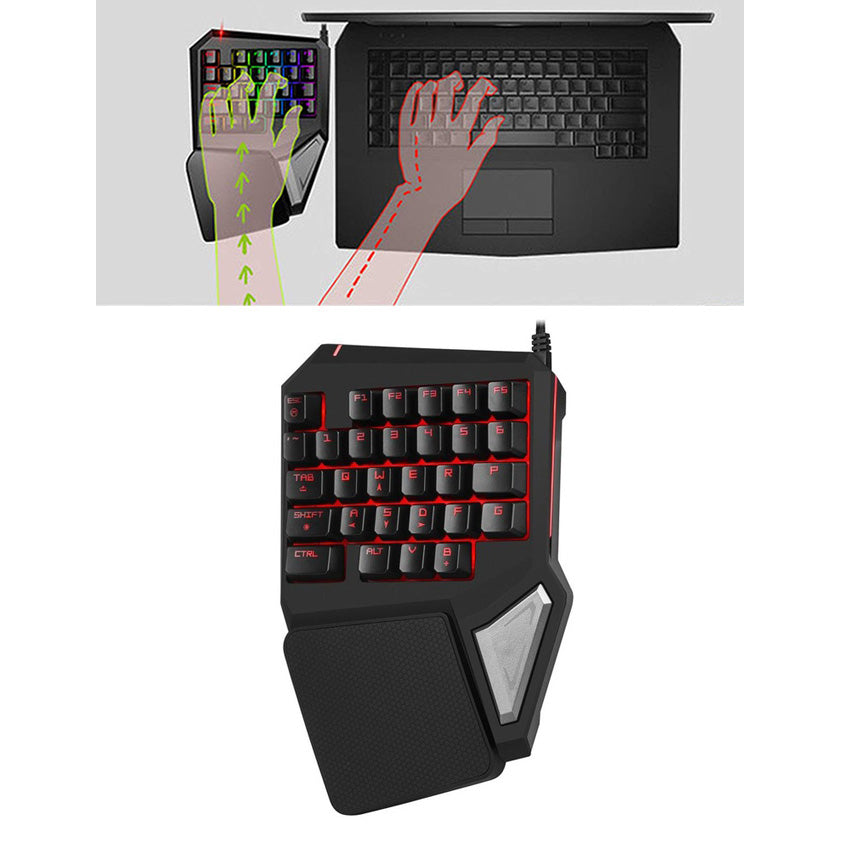 Mini Professional Gaming Keyboard Red