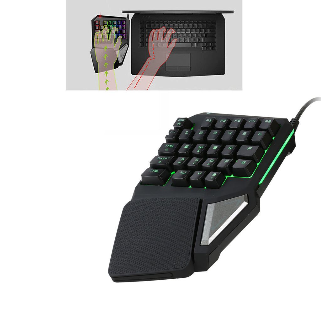 Mini Professional Gaming Keyboard Green