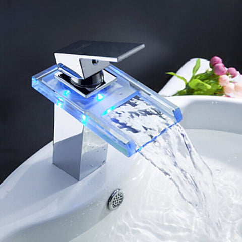 Image of Bathroom Waterfall LED Faucet