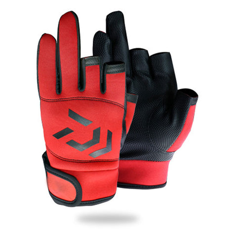 Fishing Gloves Red