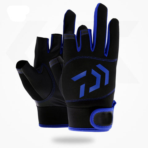 Image of Fishing Gloves Blue